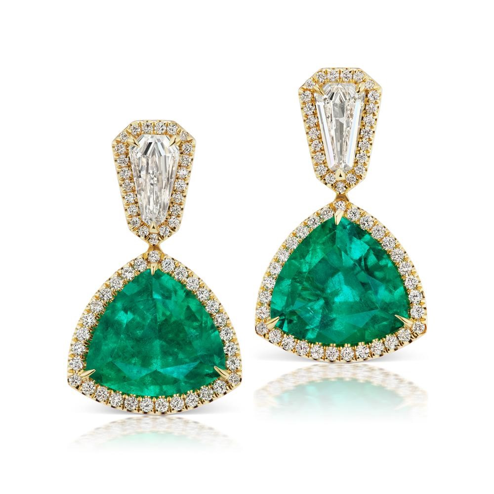 Colombian Emerald and Diamond Earring